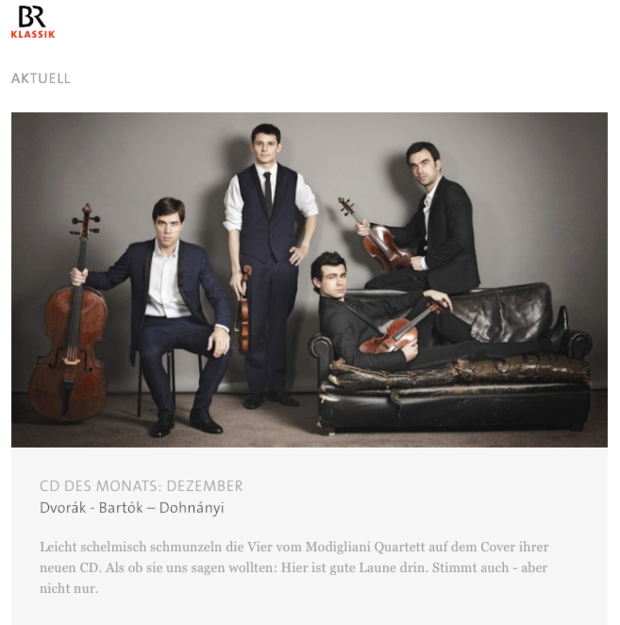 CD of the month - BR Klassik (December 2015)
